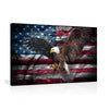 Canvas Wall Art |  American Flag & An Eagle Canvas Prints Framed Ready to Hang