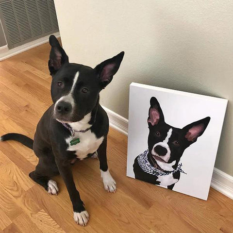 costom dog Canvas Wall Art