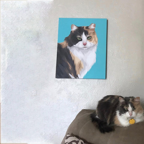 Custom cat Portrait Canvas