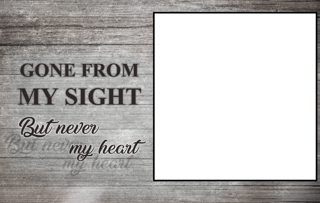 Custom Canvas Wall Art | Gone From My Sight | Personalized Canvas Prints