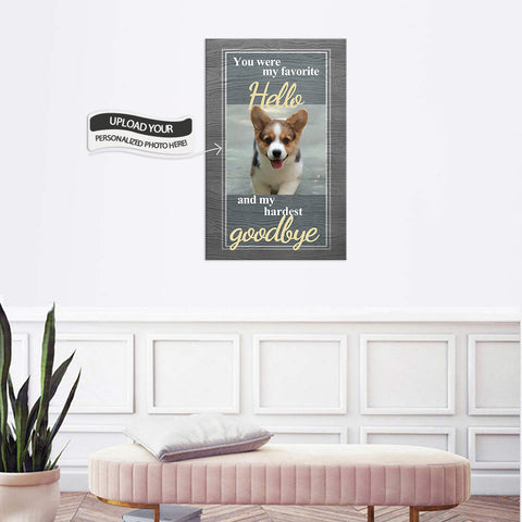 Custom Canvas Wall Art | You Were My Favorite Hello | Personalized Canvas Prints
