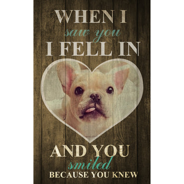 Custom Canvas Wall Art | When I Saw You I Fell In