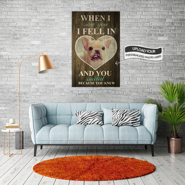 Custom Canvas Wall Art | When I Saw You I Fell In | Personalized Canvas Prints