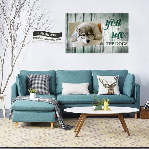 Custom Canvas Wall Art | You Me And The Dogs | Personalized Canvas Prints