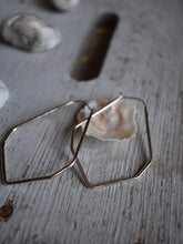 Load image into Gallery viewer, unique silver hoop earrings