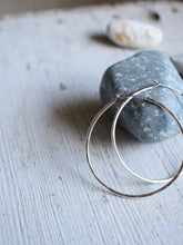 Load image into Gallery viewer, sterling silver hoop earrings