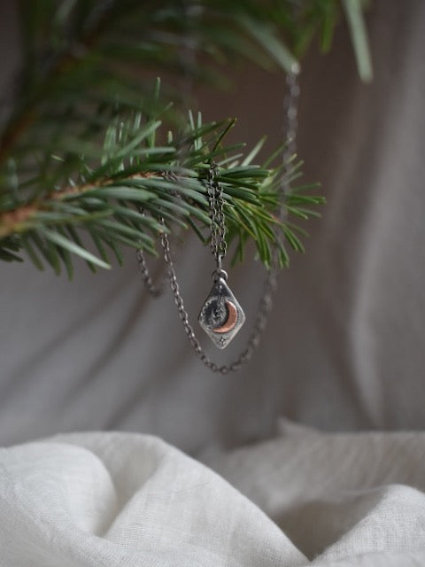 Forest Spirit Crescent Moon Necklace