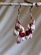 Load image into Gallery viewer, nature inspired pink textile jewelry