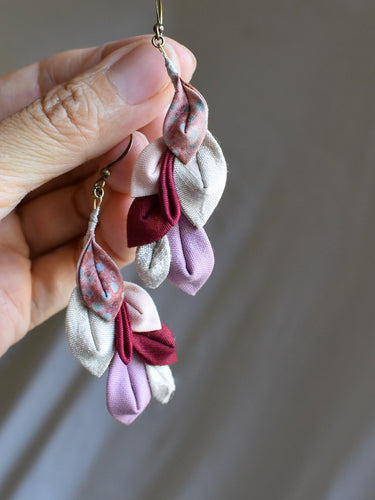pink shades earrings
