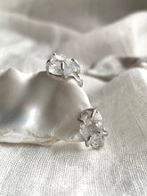 Load image into Gallery viewer, Herkimer Diamond clip on earrings