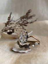 Load image into Gallery viewer, Enchanted Forest Dew Drops Ring ✴︎Herkimer Diamond✴︎