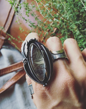 Load image into Gallery viewer, Rutilated Quartz Feather Ring