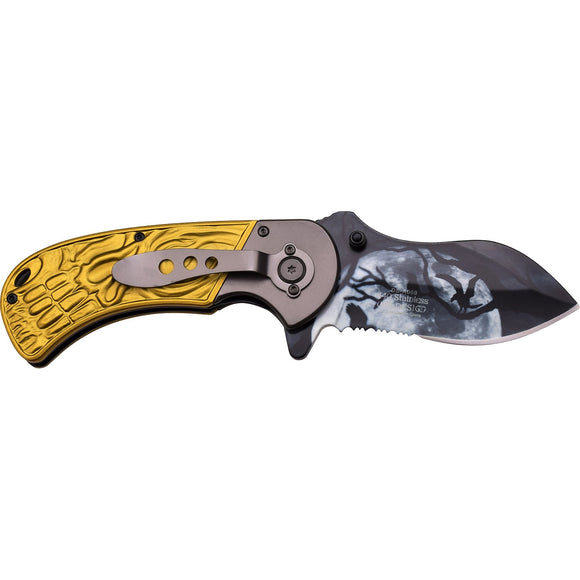 Dark Side Blades DS-A009GN Spring Assisted Knife