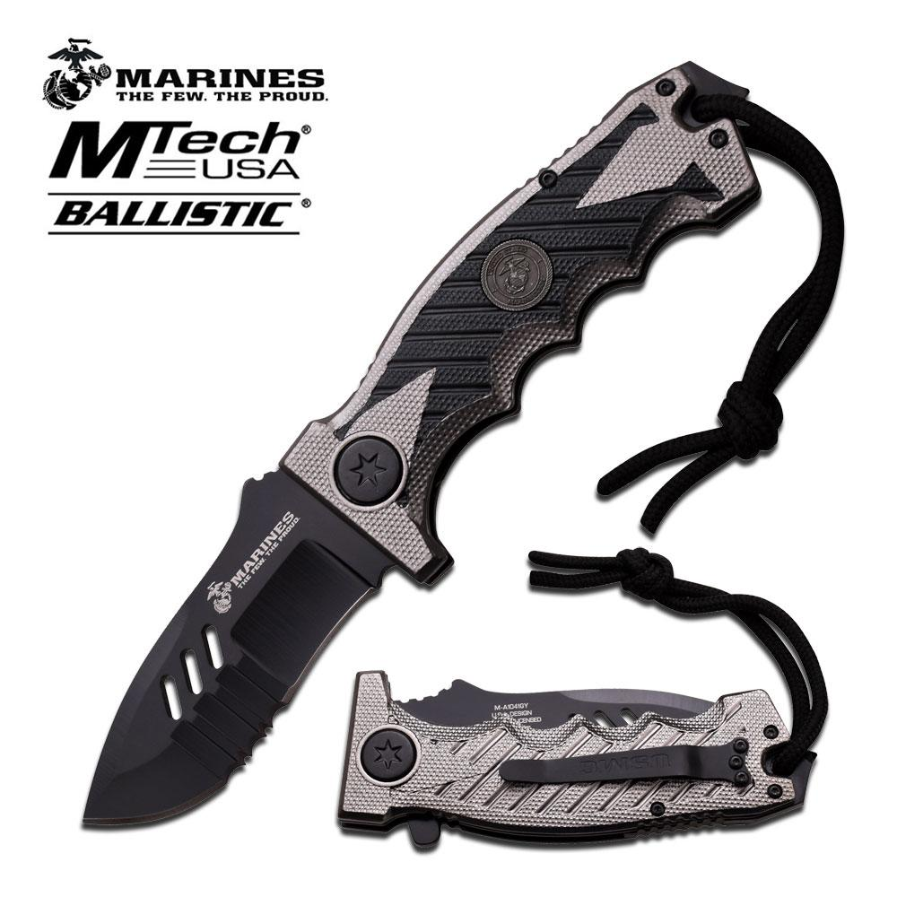 USMC M-A1041GY Spring Assisted Knife