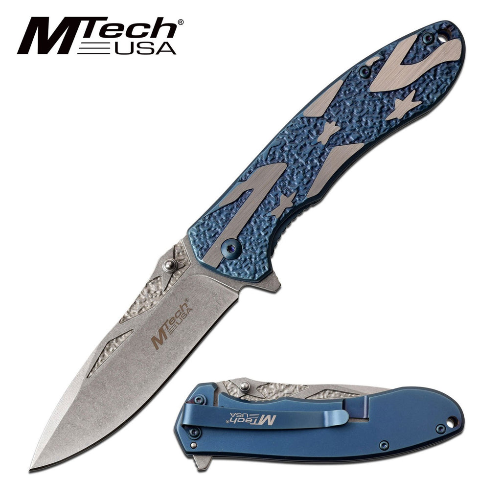 MTech MT-A1023CBL Spring Assisted Knife
