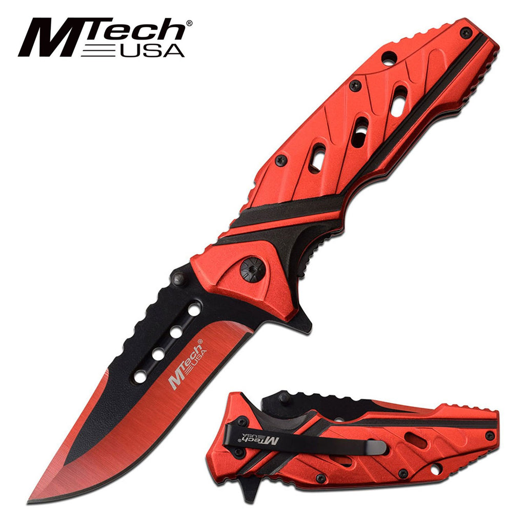 MTech MT-A1040RD Spring Assisted Knife