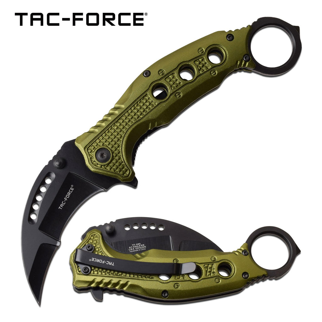 Tac-Force TF-985GN Spring Assisted Knife