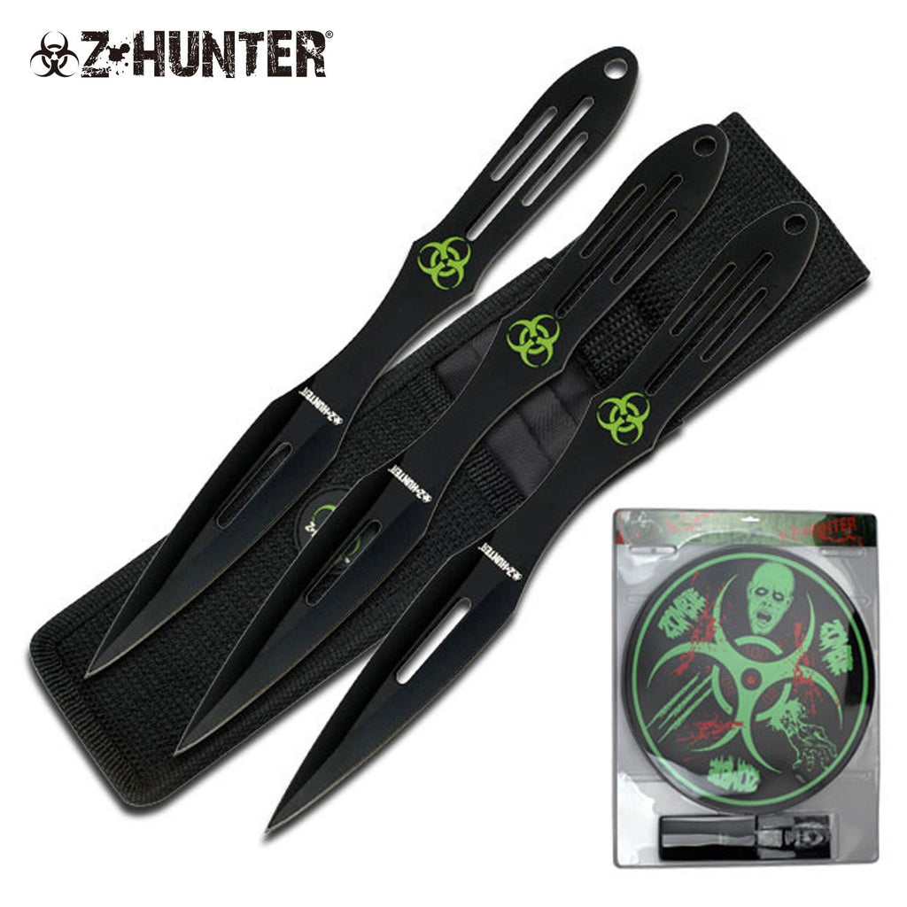 Z-Hunter ZB-050BK Throwing Knife Set