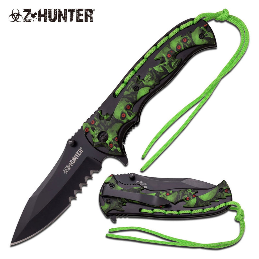 Z-Hunter ZB-144GN Spring Assisted Knife