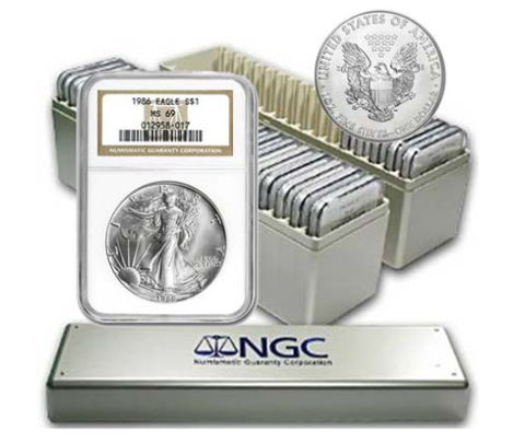 1986-2021 American Silver Eagle 36 Coin Set NGC MS69