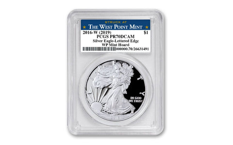 2016-W $1 1-oz Silver Eagle West Point Mint Hoard PCGS PR70DC w/Star Label