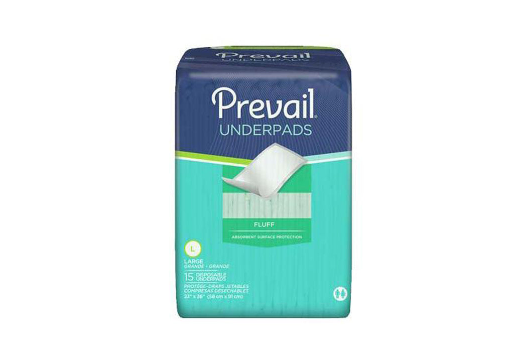 Prevail Disposable Underpad  Fluff Light Absorbency UP-150