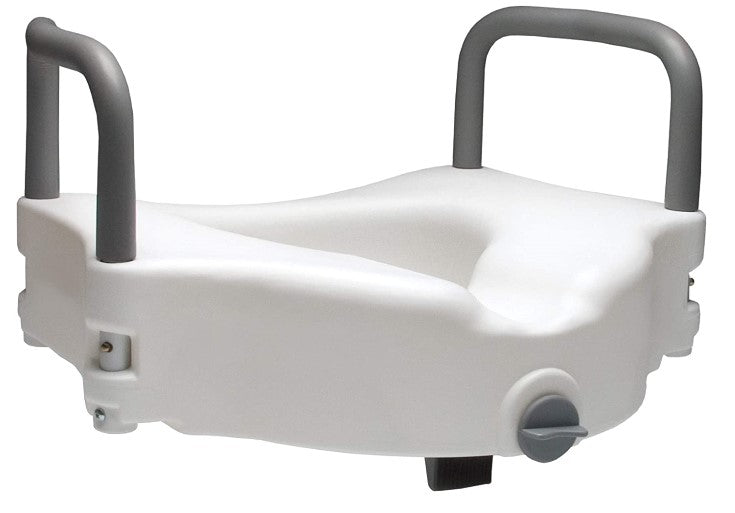Raised Toilet Seat with Arms Locking