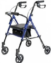 Load image into Gallery viewer, Set n' Go Rollator - Blue/Burgundy/Silver
