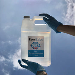 Zeus Labs - 95% Denatured Alcohol (Disinfecting Spray) 128 FL Oz Bulk Size