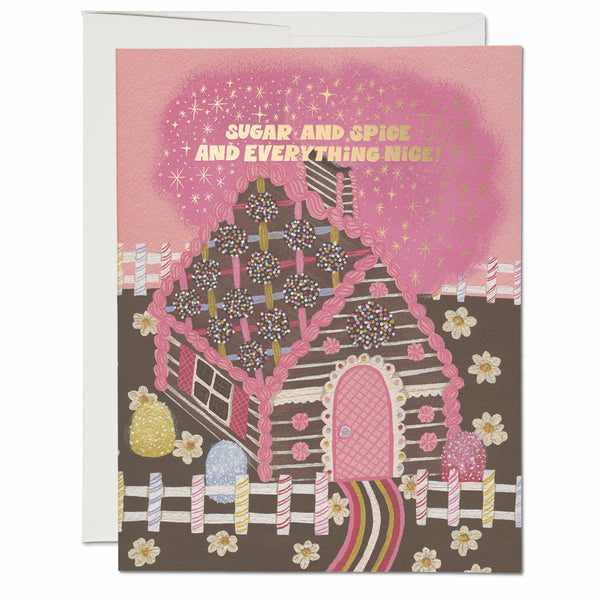 Gingerbread House ✹ Greeting Card
