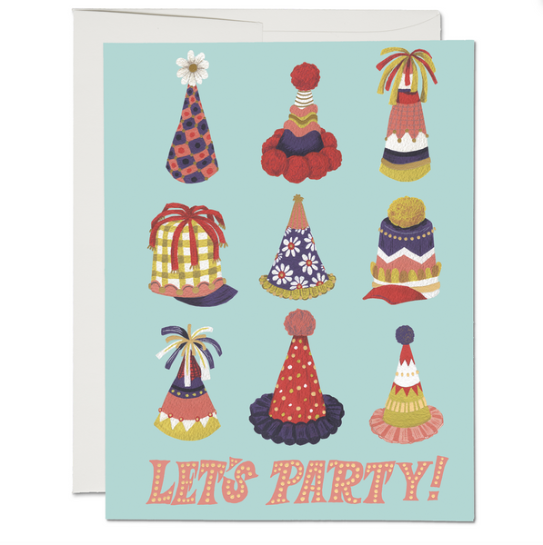 Party Hats ✹ Greeting Card