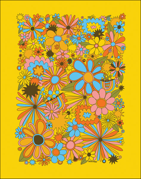 Groovy Flower Bunch ✹ Large Print