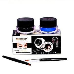 Music Flower 24 hours Long Wear Gel Eyeliner Black & Blue