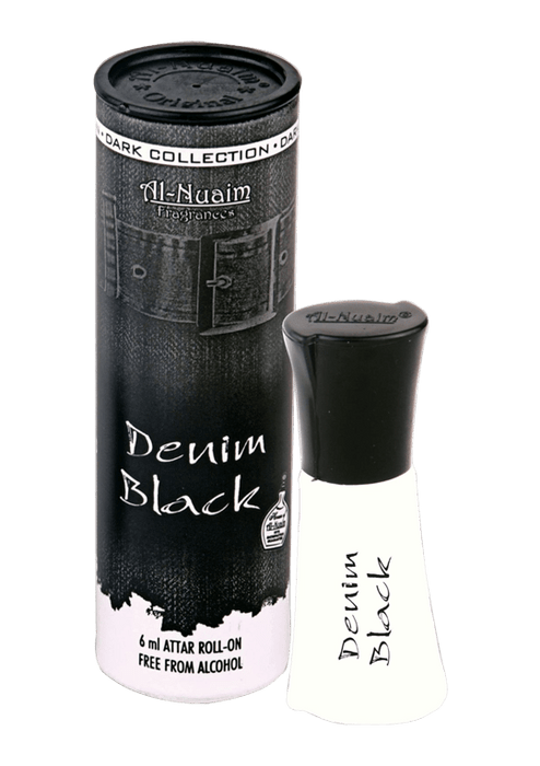 Al Nuaim Denim Black 6ml Roll On Unisex Attar is The Best And Cheap Perfume in India Cash on Delivery Available