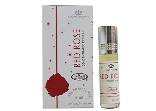 Crown perfume Al Rehab Red Rose Attar 6ml Pack