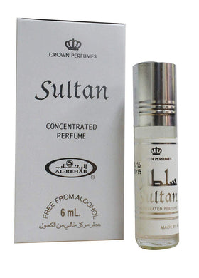 Al-Rehab Sultan 6ml Roll-On Woody Spicy Attar Pocket Perfume, a fragrance for men