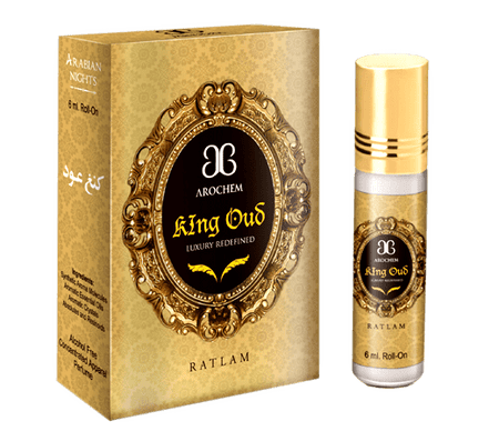 Arochem King Oud 6ml Roll-On Attar pocket perfume