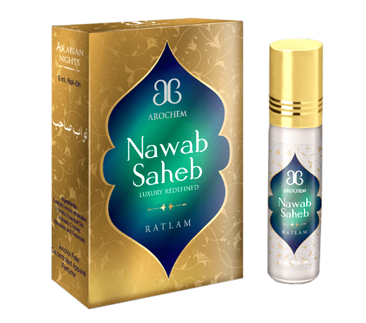 Arochem Nawab Saheb 6ml Roll-On Attar pocket perfume