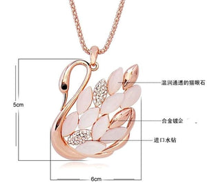 Swiss Fashion 24K Gold Plated Goose Pendant Necklace
