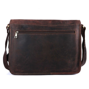 Pinato Genuine Leather Laptop Bag Brown for Men & Women (PL-2418)