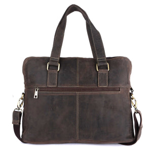 Pinato Genuine Leather Laptop Bag Brown for Men & Women (PL-3918)