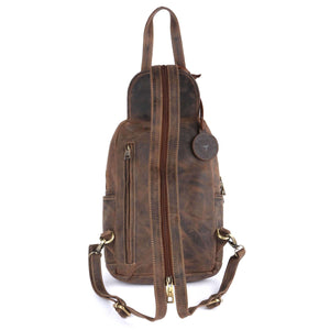 Pinato(PL-4018) Genuine Leather Camel Backpack for Women & Men
