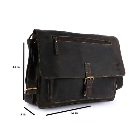 Pinato Genuine Leather Briefcase Portfolio Bag for Women & Men (PL-5018)