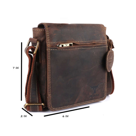 Pinato(PL-5417) Genuine Leather Messenger Bag for Men & Women