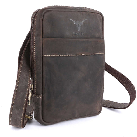 Pinato(PL-5618) Genuine Leather Messenger Bag Brown for Women & Men