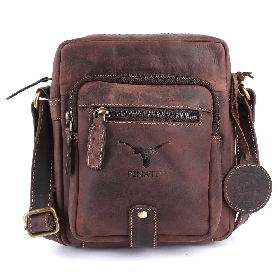 Pinato Genuine Leather Messenger Bag Brown for Women & Men (PL-5716)