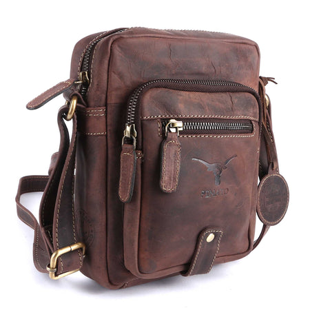 Pinato(PL-5716) Genuine Leather Messenger Bag Brown for Women & Men