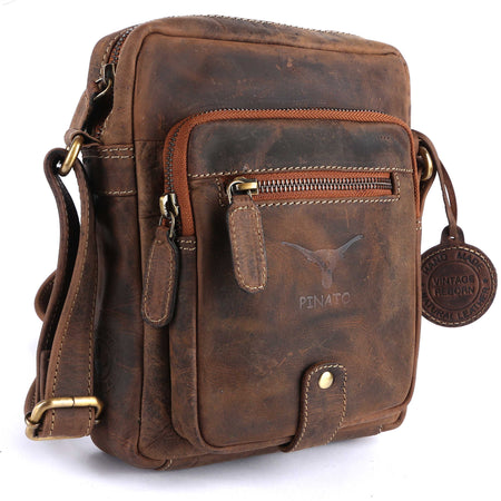Pinato(PL-5716) Genuine Leather Messenger Bag for Men & Women