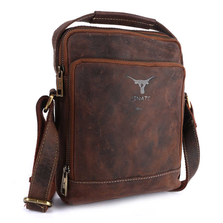 Pinato(PL-5718) Genuine Leather Messenger Bag for Men & Women