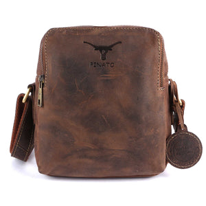Pinato Genuine Leather Camel Messenger Bag for Men & Women (PL-5818)
